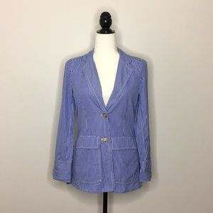 J. Crew Striped Button Blazer